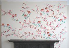 Image result for cherry blossom tree mural