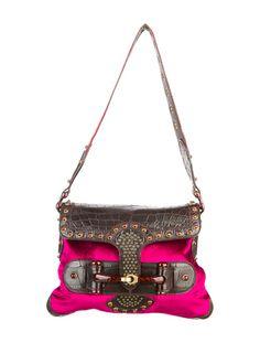 Gucci Crocodile Pelham Shoulder Bag