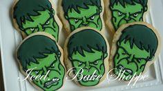 Marvel Avengers Hand Iced Hulk Sugar Cookie by IcedBakeShoppe