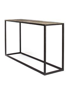 desserte en m tal vieilli et bois recyl ale nordal. Black Bedroom Furniture Sets. Home Design Ideas