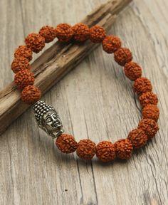 Men's Rudraksha Beads Buddha Bracelet