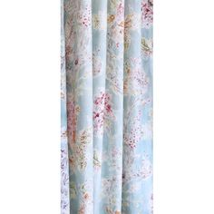 A gorgeous, watery floral fabric in a soft blend of powdery, sea glass blue, celery green, berry pink, deep wine, putty-dove grey, spiced orange and creamy off