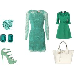 Petite robe turquoise, created by chrisalyde on Polyvore