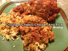 Cheesy Chicken And Rice Crockpot Recipe