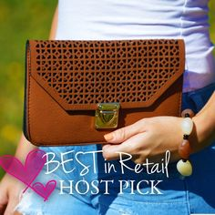 """Fell For You Crossbody/Clutch Retail NWT Fell For You Purse in brown is the perfect mix of crossbody or clutch with it's adorable detailed flap and textured feel. It has a push lock flap top closure and comes with a 52"""" strap. Faux leather. 8 (W) x 5 (D).   Bundles = 10% off & FREE Gift ❌ No Trades ❌ Low Ball Offers Blackberry Boutique Bags Clutches & Wristlets"""
