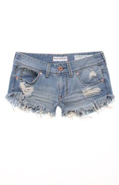 Bullhead Extreme Fray Hem Shorts l PacSun Ripped Jean Shorts, Distressed Denim Shorts, Country Girl Style, My Style, Country Girls, Cool Outfits, Summer Outfits, Summer Clothes, Summer Shorts