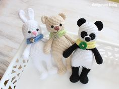 Cuddle Me Panda, Bear and Bunny - Free amigurumi patterns