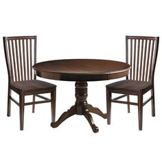Our heirloom-style extension table features durable hardwood construction with a neat apron, classically turned pedestal base, scrolled legs and a rich lacquered finish. Just add the center leaf with the help of expanding metal glides, which ensure ease of opening or closing, and convert from a handsome four-top to dining for six.