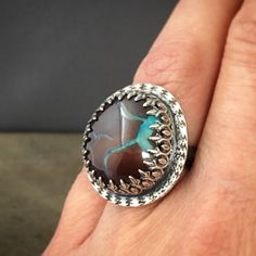 Koroit declaración de ópalo - ópalo joyas - anillo de piedra grande - anillo único - boho - boulder opal anillo - tamaño 7.75 del anillo de prox en Etsy https://www.etsy.com/es/listing/271943672/koroit-declaracion-de-opalo-opalo-joyas