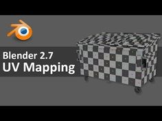 Blender 2.7 UV Mapping 2 of 4 - YouTube