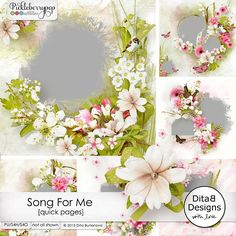Song For Me - quick pages by Dita B Designs