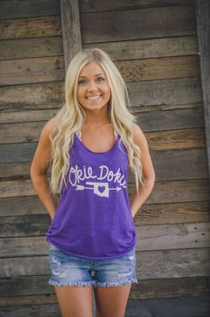 Okie Dokie Tank available at J. Lilly's Boutique or www.JLillysBoutique.com