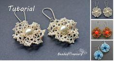 (5) Name: 'Jewelry : Beading pattern 'Ruffled Lace' earrings