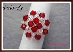 Special! Round Red ... by darlovely | Jewelry Pattern - Looking for your next project? You're going to love Special! Round Red Ring (RG142) by designer darlovely. - via @Craftsy