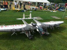 Huge Rc Kalinin K-7 CCCP,6m Wingspan and 7 Motors at Kulmer Air Show 201...