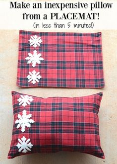 Make an inexpensive pillow from a placemat (in less than 5 minutes)