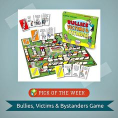 We love this Chutes and Ladders-like game from @Quillcom for teaching kids about bullying and sticking up for one another!