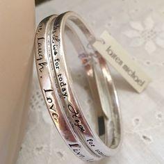 Live laugh love bangle bracelets by Lauren Michael Metal Bracelet Set New w Tags #LaurenMichael