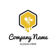 DesignEvo honey logo creator provides you with tons of logo templates, and helps you easily build honey logos in seconds flat. Run your eye over our logo gallery and find what you need. Hive Logo, Logo Bee, Custom Logo Design, Custom Logos, Bee Games, Dessert Logo, Honey Label, Honey Brand, Honey Packaging