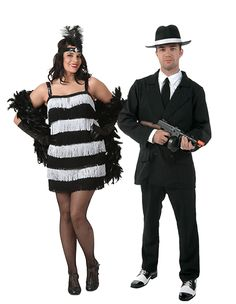 flapper and gangster couples costumes