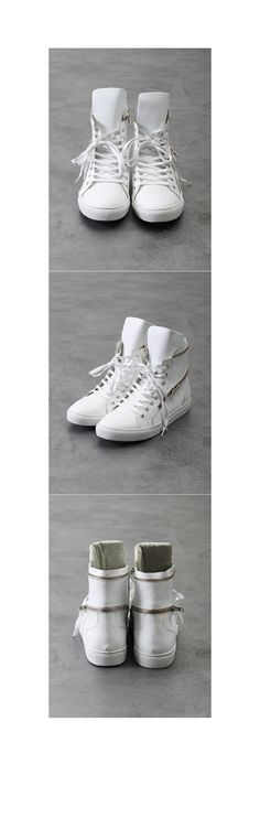 Marc Dual Zipped Leather Hightop Sneakers