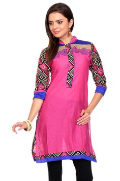 Party Wear Pink Color Stylish #CottonKurti