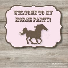 Horse Party Small Yard Sign Instant Printable PDF by Punkyprep, $4.95