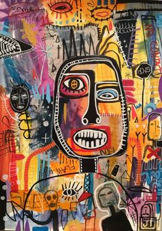 """Check out our web site for even more relevant information on """"modern abstract art painting"""". It is an excellent area to learn more. Basquiat Paintings, Art Paintings, Painting Art, Arte Punk, Art Moderne, Psychedelic Art, Aesthetic Art, Online Art Gallery, Collage Art"""