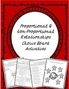 Give your students a choice on how they show mastery of a skill with the Proportional & Non-Proportional Relationships Choice Board Activities. Choice boards offer a variety of options to meet the needs of all students with different learning styles.