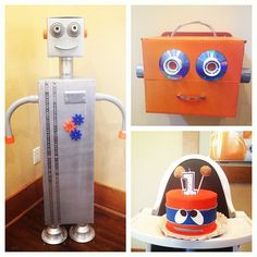 #RobotBirthday #AllhandMade Easton's first birthday party