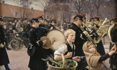 Erik Henningsen (1855-1930): Parade of the Infantry, 1882