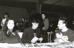 H.I.U 7° edizione Milano 18, 19, 20 Maggio 2001 Leoncavallo Nella foto da sinistra Katerina Mirovic, Alexander Zograf e Igor Prassel