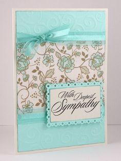 Sympathy Card  Handmade Card  Condolence Card  by CardsbyGayelynn,