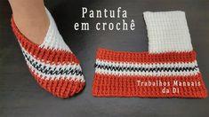 Easy Crochet Slippers, Crochet Boots, Crochet Baby, Knit Crochet, Crochet Tutorial, Crochet Shoes Pattern, Free Crochet Slipper Patterns, Easy Crochet Patterns, Crochet Capas