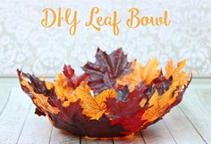 Decorative DIY Leaf Bowl | 5 Outstanding DIY Projects to End Fall With, see more at http://diyready.com/5-outstanding-diy-projects-to-end-fall-with