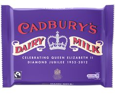 Cadbury's limited edition jubilee dairy milk bar in 1950's vintage packaging