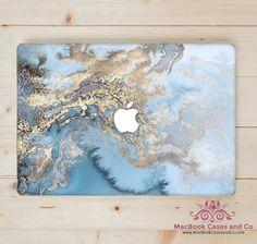 Ocean blue Marble. MacBook Case. Marble Macbook case