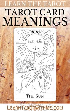 Learn the meanings for The Sun tarot card. This card is pretty easy to remember if you use the Rider-Waite card image to remember two things: the child and the hopeful happiness of summer sunshine. The Tower Tarot Card, The Sun Tarot Card, The Moon Tarot Meaning, Temperance Tarot Card, Tarot Interpretation, Tarot Cards For Beginners, Star Tarot, Free Tarot, Oracle Tarot