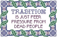 The Real Truth About Reiki Cross Stitching, Cross Stitch Embroidery, Counted Cross Stitch Patterns, Subversive Cross Stitches, Cross Stitch Charts, Embroidery Patterns, Hand Embroidery, Grafik Design, Funny Signs