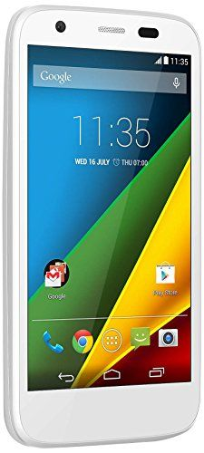 The #MOTO G has the sharpest 4.5 HD display in its class, all-day #battery, quad-core speed and the lastest version of Android!