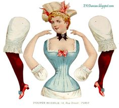 articulated paper dolls | ... Poupee Modele : articulated paper doll : ... | Antique Paper Do