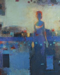 """Max Hammond """"She Stood Alone in a Land She Didn't Know""""  72"""" x 60""""  oil on canvas"""