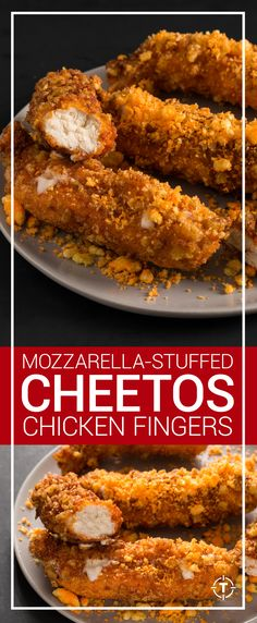 Licking Cheetos dust off your fingers is a simple delight, but coating chicken fingers in crushed Cheetos takes the concept to a whole other level. Healthy Dessert Recipes, Appetizer Recipes, Dinner Recipes, Appetizers, Dinner Ideas, Desserts, Breaded Chicken, Fried Chicken, Calamari