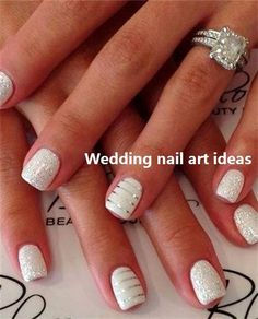 The advantage of the gel is that it allows you to enjoy your French manicure for a long time. There are four different ways to make a French manicure on gel nails. The choice depends on the experience of the nail stylist… Continue Reading → Simple Wedding Nails, Wedding Manicure, Wedding Nails For Bride, Bride Nails, Wedding Nails Design, Sparkle Wedding, Simple Nails, Trendy Wedding, Wedding White
