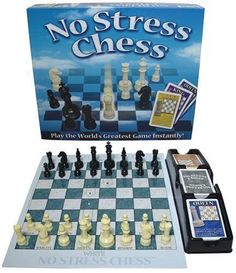 Finally, a way to learn chess without stress! The secret? An innovative deck of action cards. Each depicts a chess piece and how it moves. Once you become comfortable with the moves and powers of each