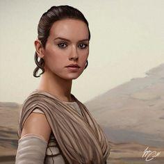 ArtStation - The Force Awakens Portraits, Logan Carroll