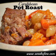 Caribbean Pot Roast | Sarah's Fare #potroast #crockpot #slowcooker