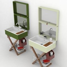 In case you do not like to use the common bathrooms from the places where you travel Olympia Ceramica proposes a variant of portable bathroom Unique Bathroom Sinks, Timeless Bathroom, Bathrooms, Bathroom Faucets, Portable Sink, Portable Bathroom, Olympia, Motorhome Interior, Towel Rail
