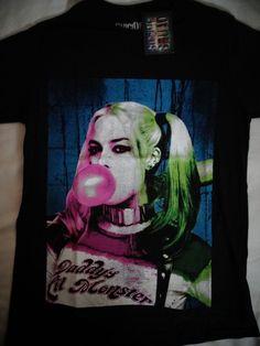 Suicide Squad Harley Quinn Blowing Bubble Dc Comics T-Shirt Nwt #SuicideSquad #GraphicTee