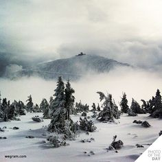This is great picture of Śnieżka Mountain in Poland.@photooftheday | PHOTO OF THE DAY 04 dec 2012 @goldie77 / judge @luka04 / wegram.com